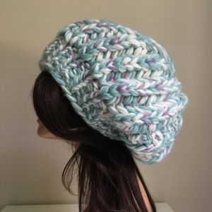 Accessories - Multicolor Oversized Slouchy Beanie Boho Bohemian